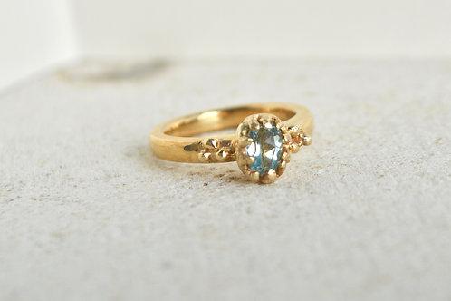 Small oval Aquamarine Ring