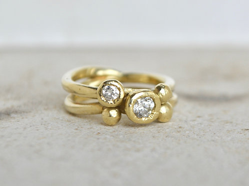 Diamond Ring with beaded detail