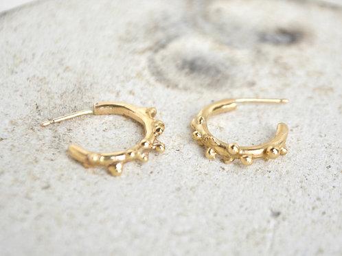 beaded detail hoop earrings