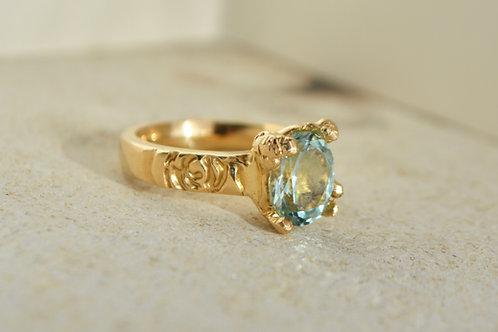 Rare Madagascar aquamarine ring