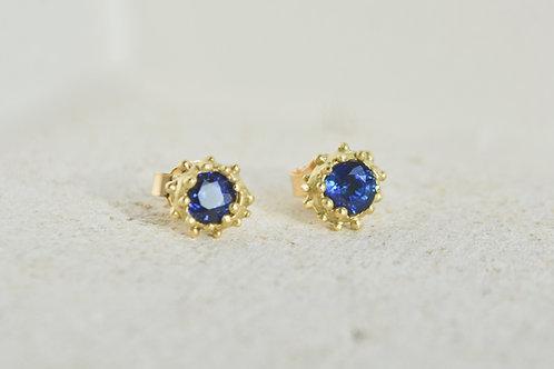 Sapphire Beaded Studs