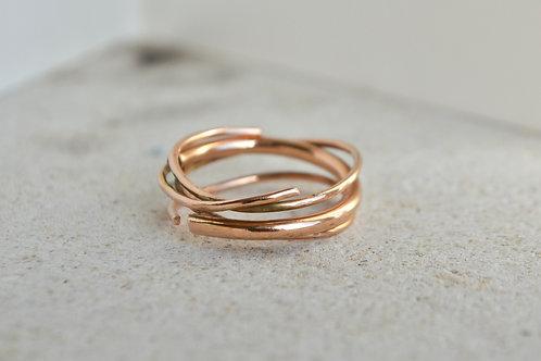 Rose gold wrap ring