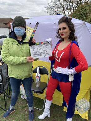 Producer Danielle with Litterwoman