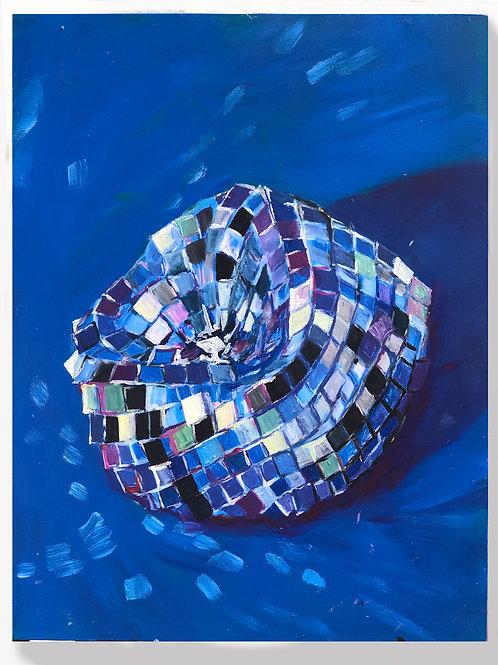 Deflated disco in blue