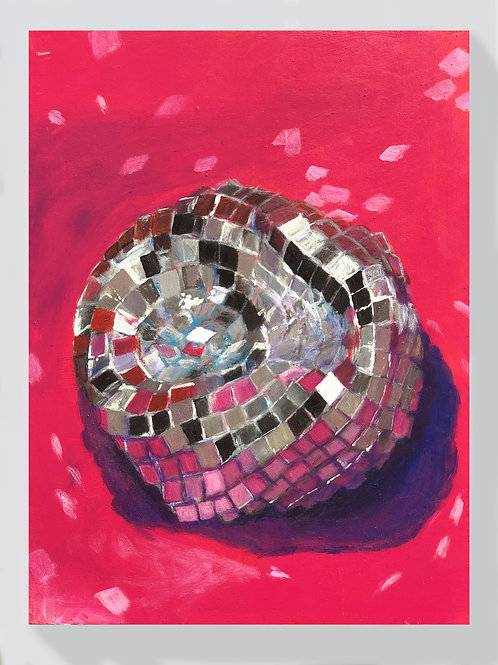 Deflated Disco on pink