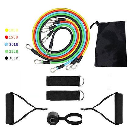 11Pcs Resistance Bands Set - Best Home Workout Equipment