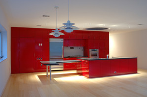 HOUSE 2045 INTERIOR NIGHT KITCHEN FROM L