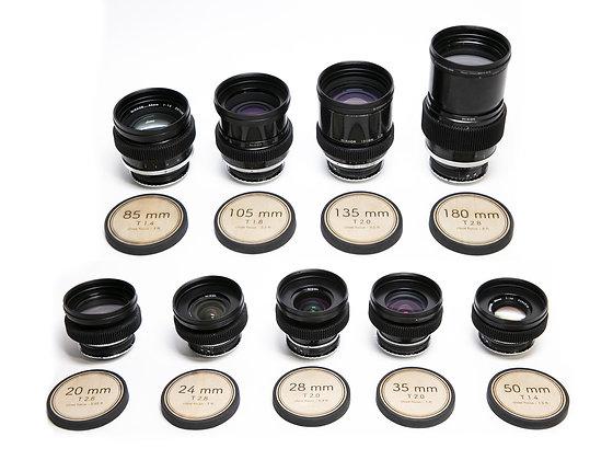 Série d'optiques NIKKOR AI-S ø80mm (Tarif HT/Jour)