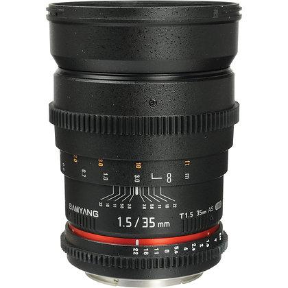 Objectif Samyang Cine Lens 35 mm F/1,5