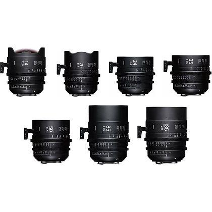 Série d'optiques SIGMA FF fixes monture PL (Tarif HT/Jour)