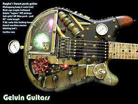 RAY'S FINISHED STEAMPUNK INSPIRED GUITAR