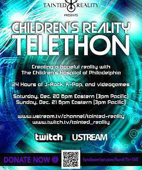 Lolita Dark performs 24 Hour Music And Gaming Broadcast, The Children's Reality Telethon