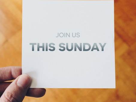 Normal Sunday Morning Service Schedule 5-31-20