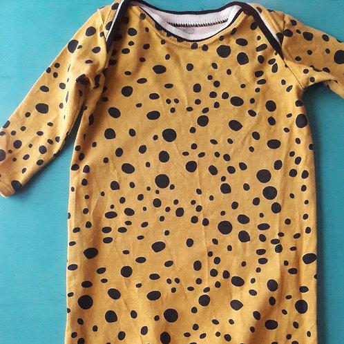 Yellow Spotty Romper 3-6m