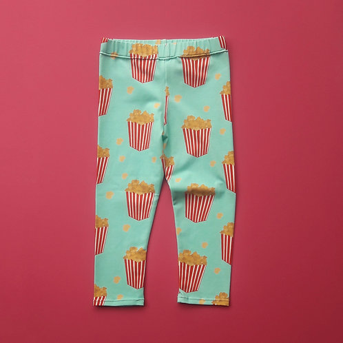 Turquoise Popcorn Leggings