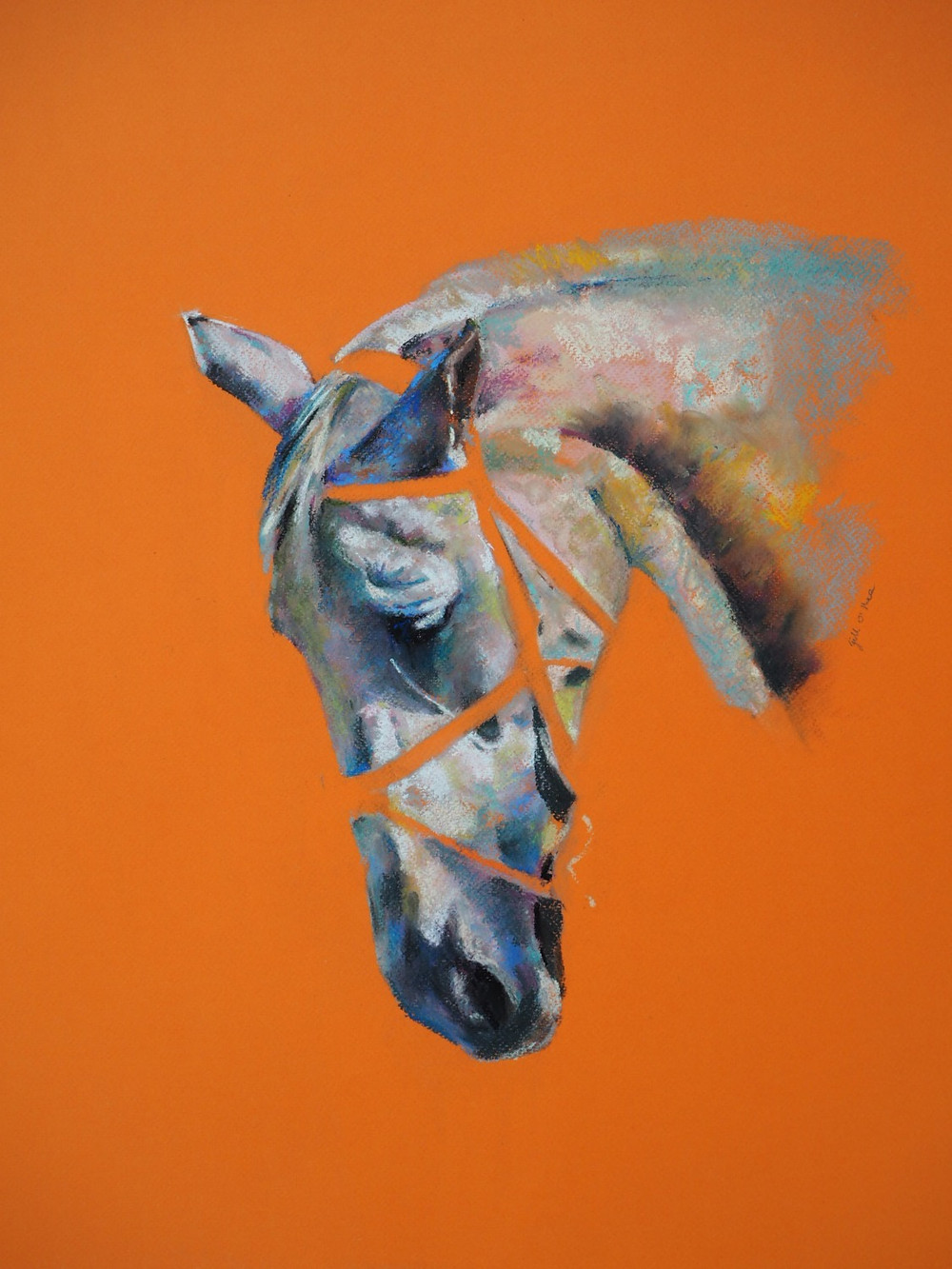 Vermillion - Pastel Painting by Gill O'Shea
