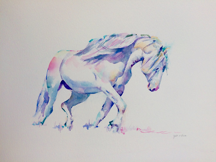 "Blaze - Original Watercolour Painting (36""x29"")"