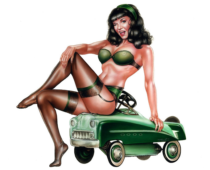 Hot Rod Bettie Print