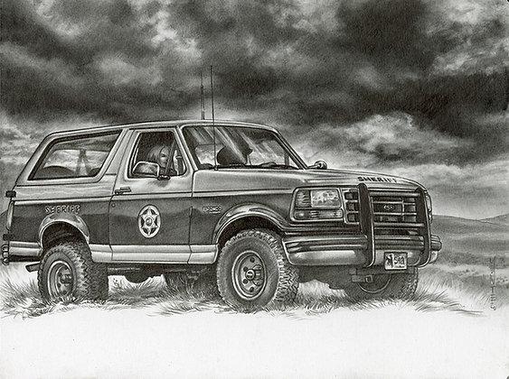 Ford Tough Original Drawing