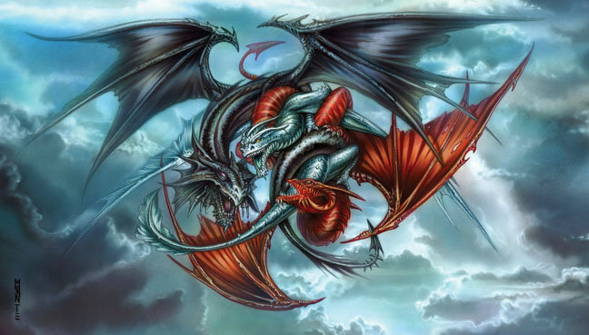 Trinity Dragons Print