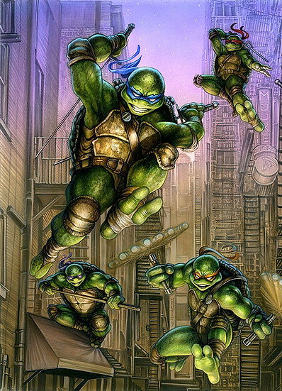 TMNT #100 (Monte Moore Cover)