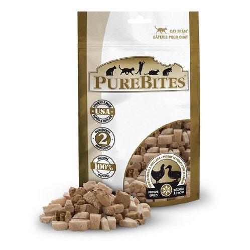 PureBites純淨低溫凍乾鮮肉貓餐 (雞胸肉+鴨肝) 32g