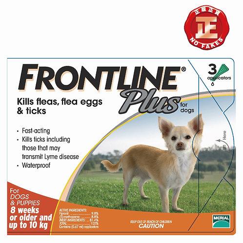 FRONTLINE PLUS 原裝行貨 殺蝨滴加強版 10kg以下犬