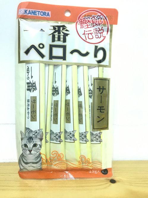 金虎一番 貓奶條-三文魚味 1包6枝
