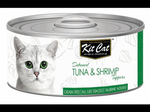 Kit Cat 無穀物貓罐 (吞拿魚+蝦)