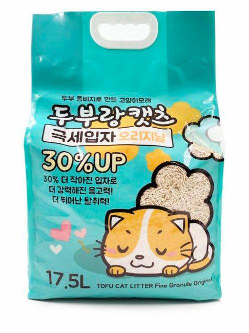 豆腐砂原味17.5L  超凝結幼條砂1.5mm