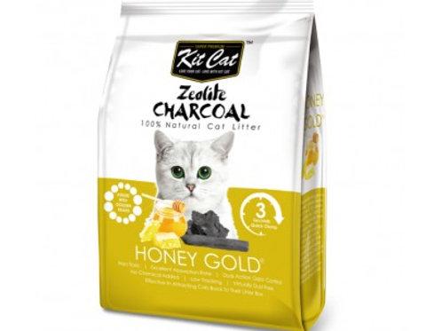 Kit Cat 沸石活性炭超強凝結貓砂 (蜂蜜)