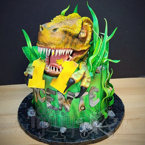 Custom 3D Dinosaur Cake
