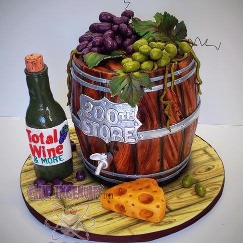 Total Wine Custom Barrel cake