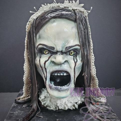 La Llorona 3D bust head cake