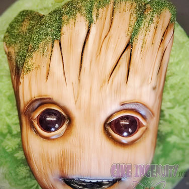 Baby Groot 3D head cake
