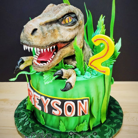 Custom 3D T-REX Cake