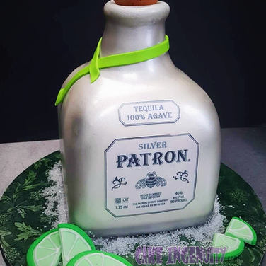 Custom Patron tequila bottle 3d cake