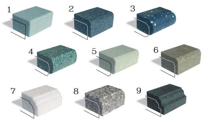 Кромки для столешниц из искусственного камня