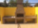 Столешница на барбекю из камня