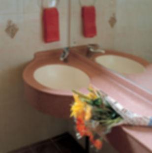 Столешницы из искусственного камня для ванной