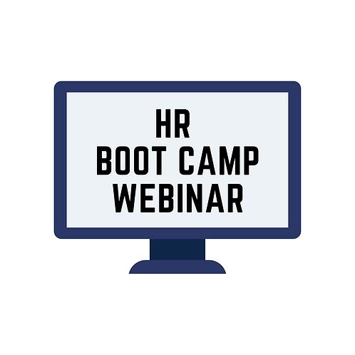 HR Boot Camp (webinar attendance)