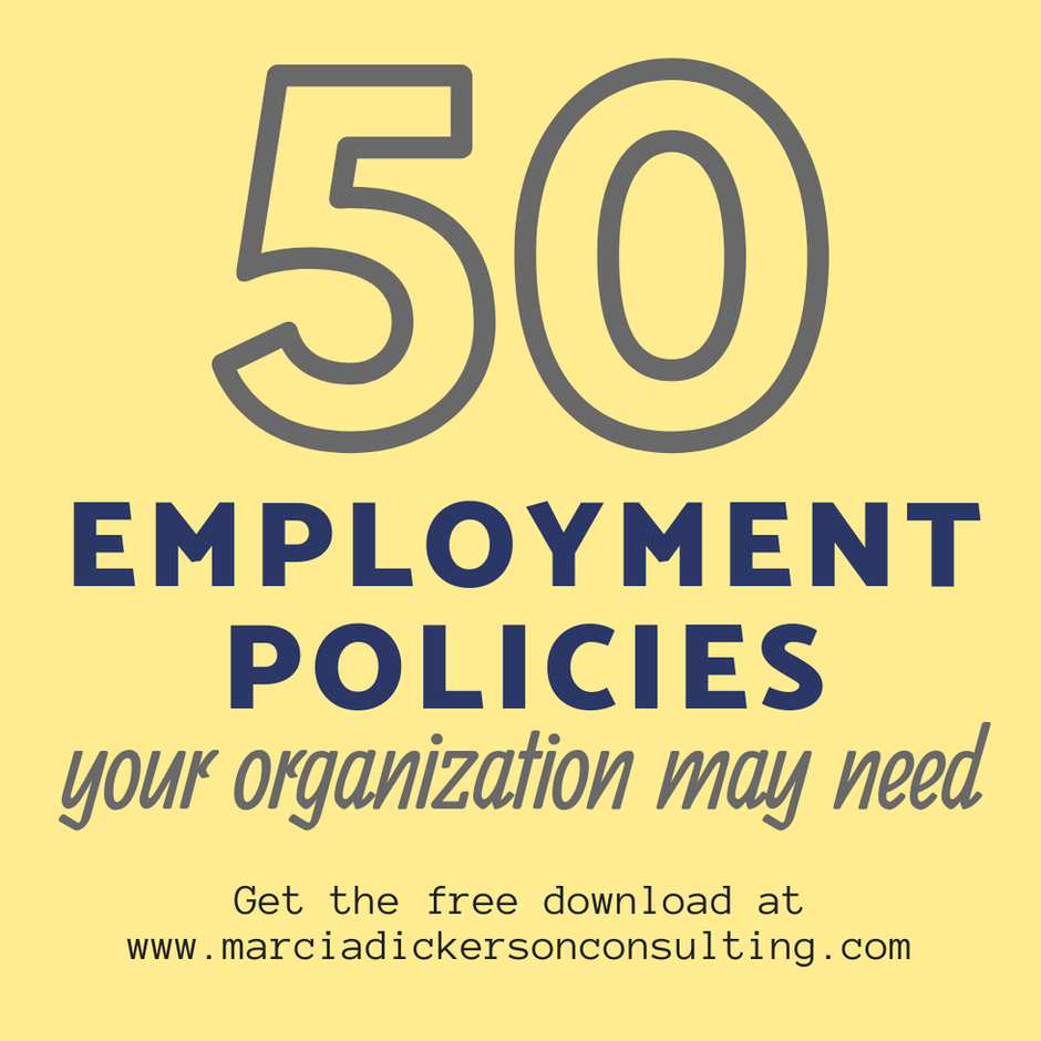 50 Employment Policies Your Organization May Need