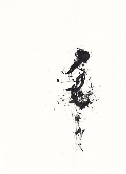 Dancer, 2018, ink on cardboard, 21 x 29 cm, private collection.
