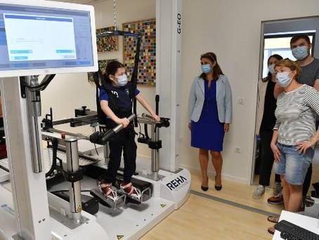 Clermont-Fd dispose d'un modèle unique en France de machine robotique de ré-entraînement à la marche