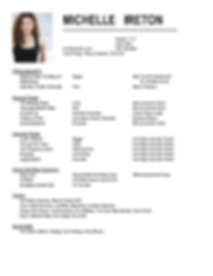 Michelle Ireton-Performance Resume for W