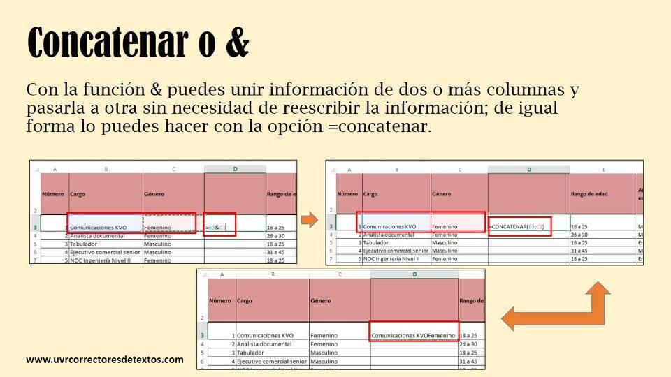 Consejos para usar Excel