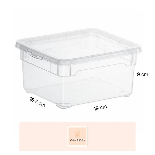 Caja transparente 2 litros
