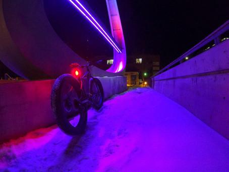 Dark of Winter Fat Bike Photos