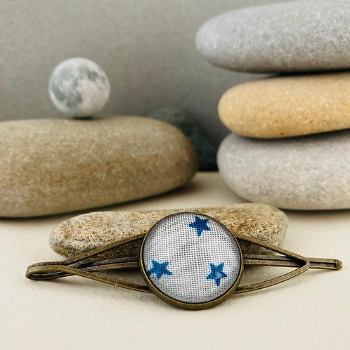 Pince broche tissu étoiles