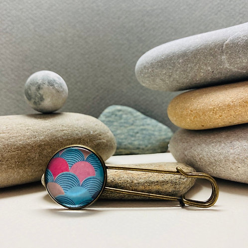 Epingle à écharpe motif japonais
